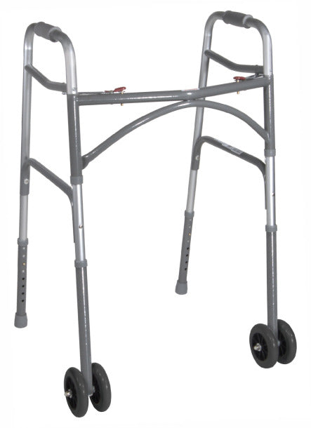 Drive Bariatric Aluminum Two-button Folding Walker