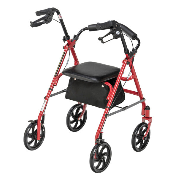 Drive Steel 4 Wheel Rollator with Fold Up Removable Back-Blue