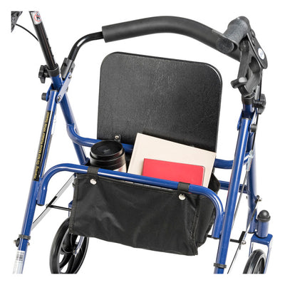 Drive Steel 4 Wheel Rollator with Fold Up Removable Back