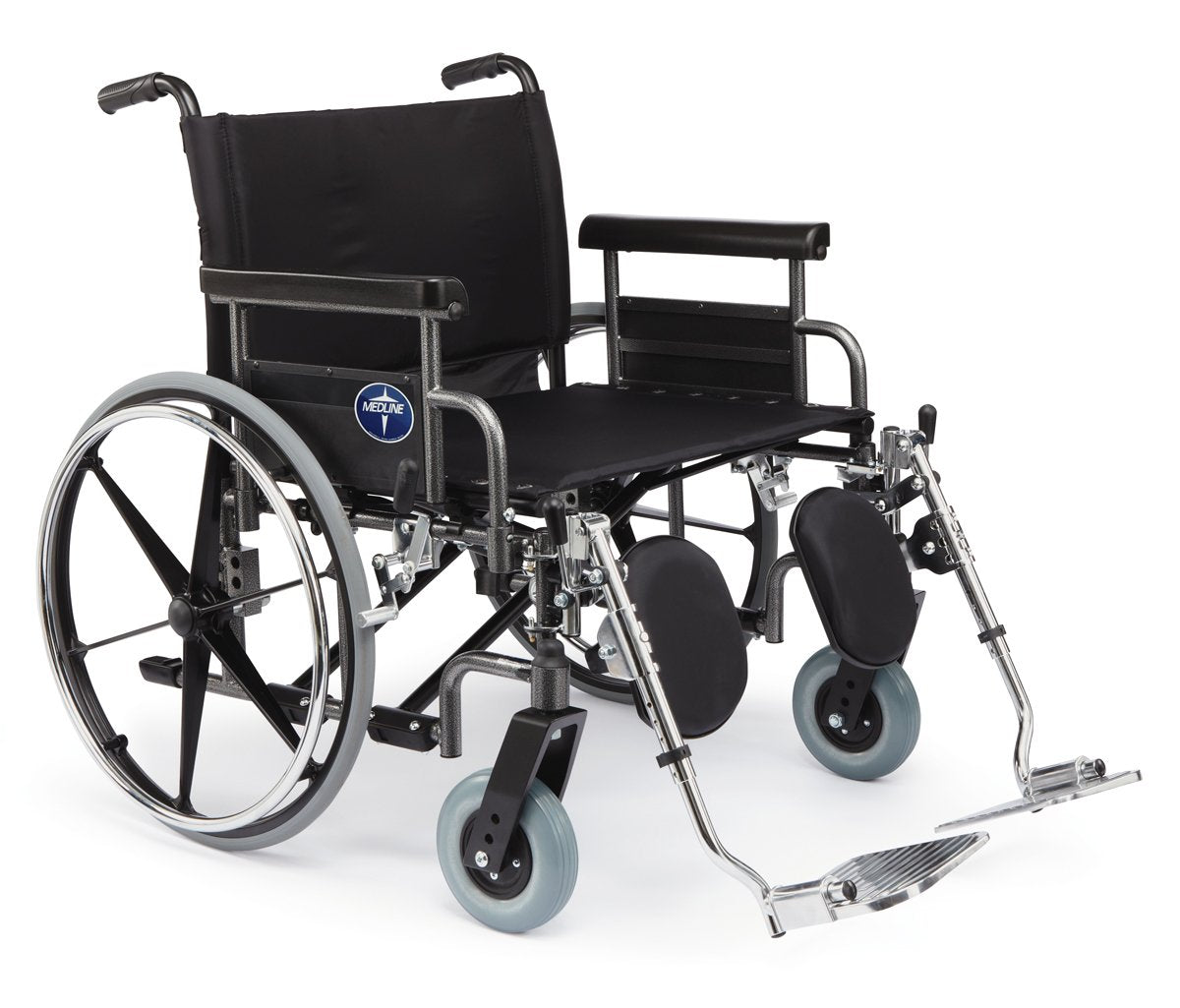 WIDE HEAVY DUTY STANDARD WHEELCHAIR-24""