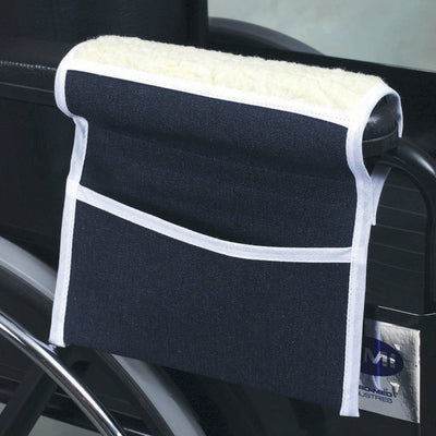 Mabis Fleece Armrests with Pouch, 1 Pair