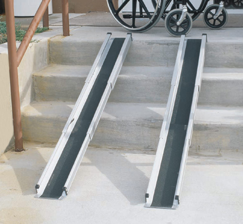 Mabis 5' Telescoping Adjustable Wheelchair Ramp
