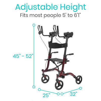 Upright Rollator Walker