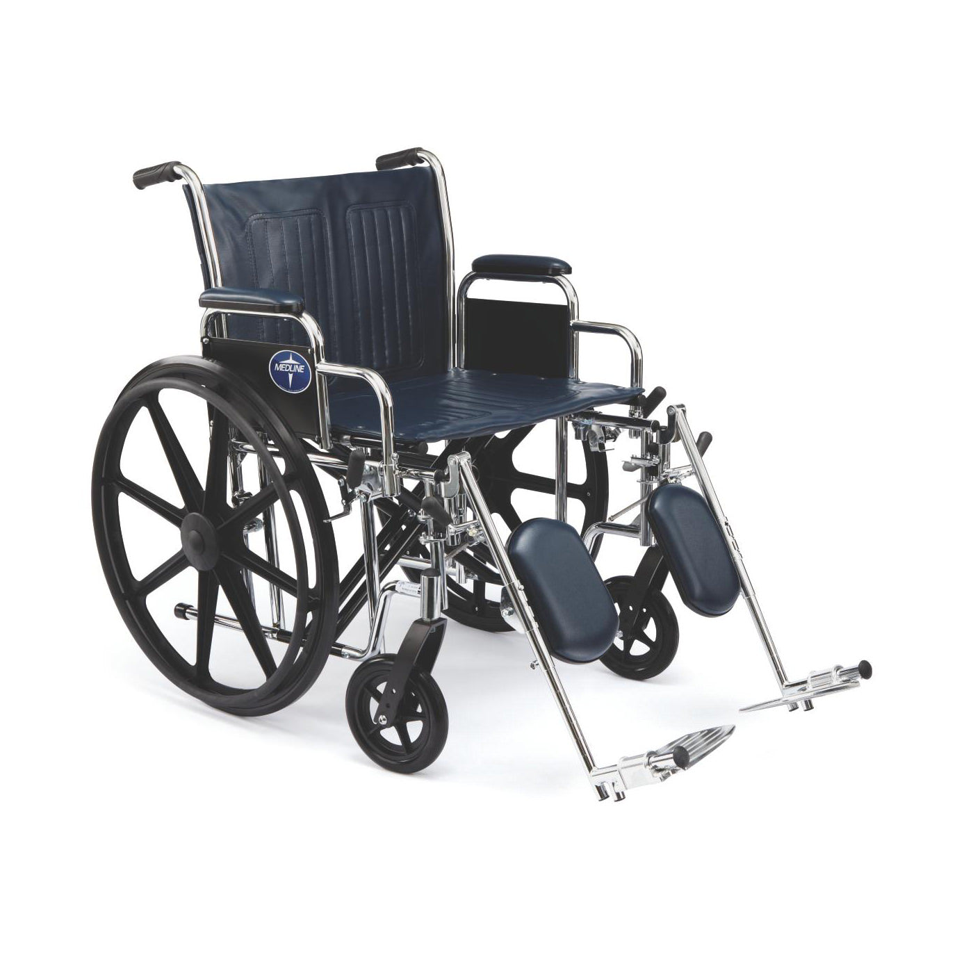 Medline Excel Extra-Wide Wheelchair-Detachable Footrests
