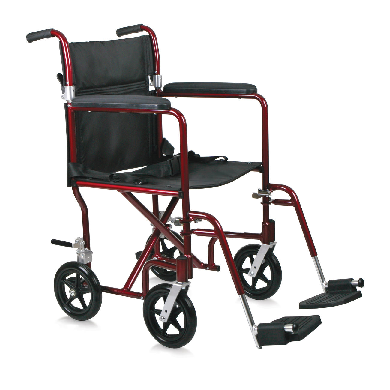 "Medline 19"" Aluminum Transport Wheelchair"