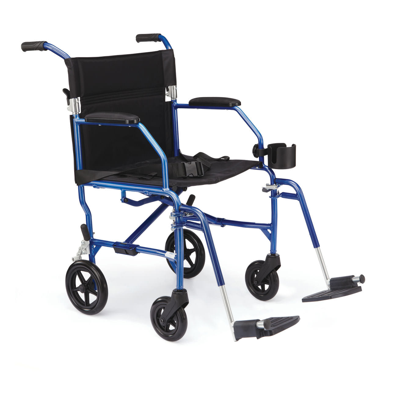 Medline UltraLight Transport Wheelchair-Blue