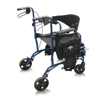 Medline Excel Translator Rollator/Transport Chair - Blue