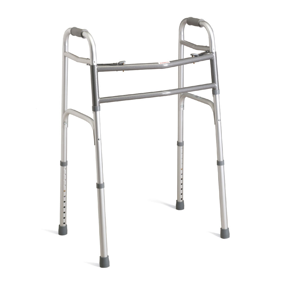 Medline Extra-Wide Two-Button Heavy Duty Walker