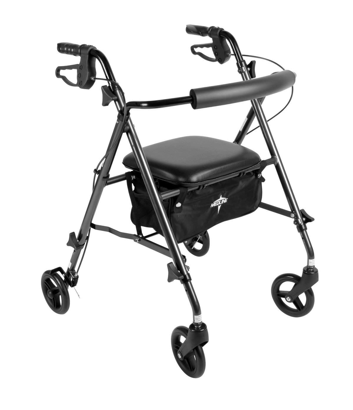 Medline Ultralight Freedom Rollator-Red