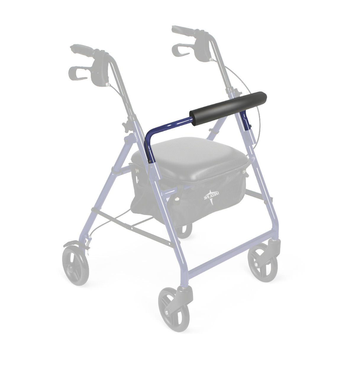 Backrest with pad for Blue Medline Economy Rollator