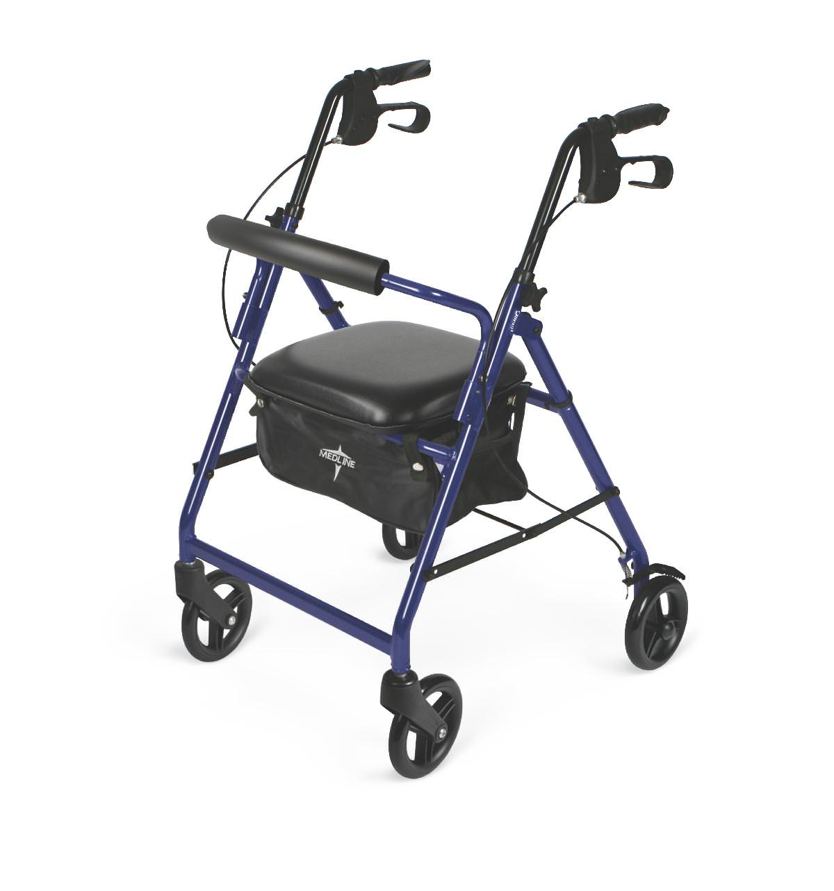 Medline Economy Rollator-Burgundy