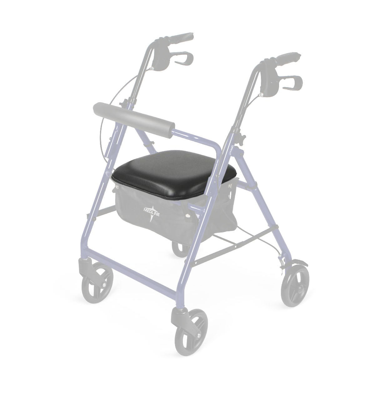 Seat Assembly with Hardware for Medline Economy Rollator