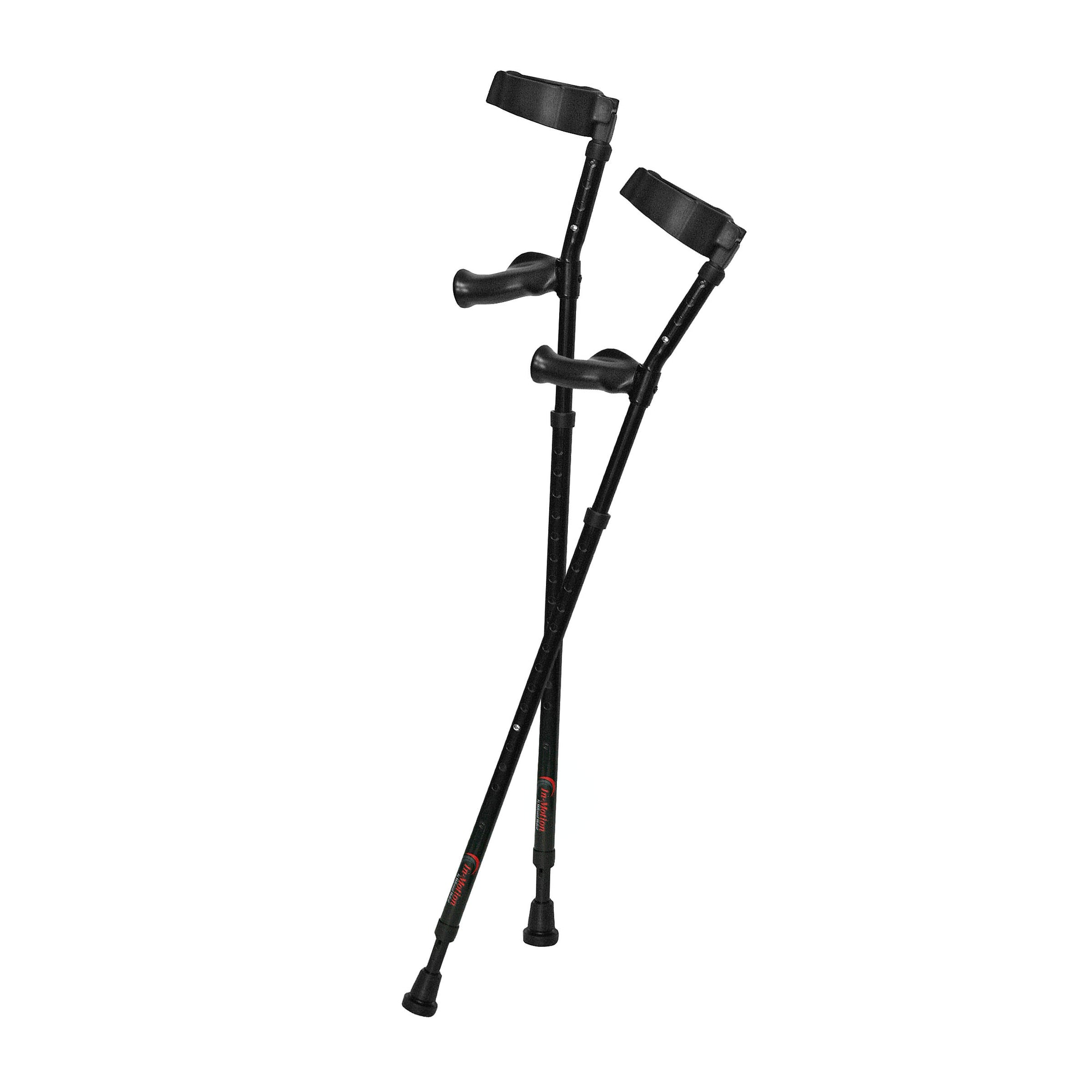 Millennial In-Motion Forearm Crutches, 1 Pair - Black