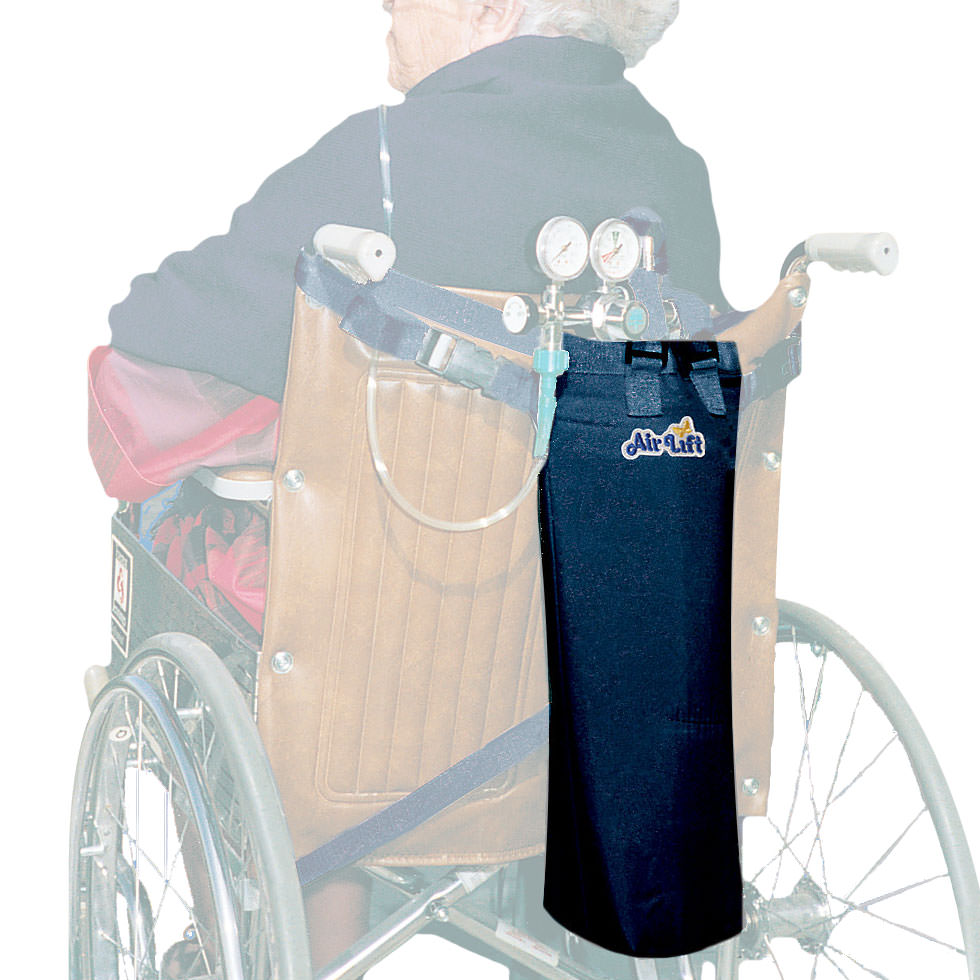 AirLift Wheelchair/Scooter Oxygen Cylinder Carrier-M6, C/M9, or D Size Oxygen Cylinders