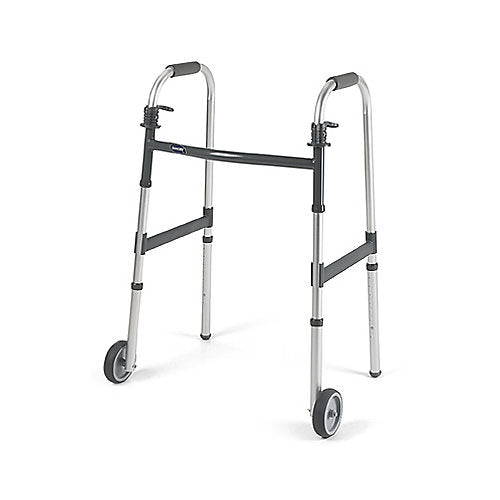 Invacare Dual Release Adult 5 Inch Wheeled Walker