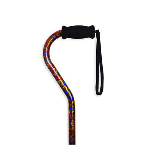 Adjustable Cane with Offset Handle-Paisley