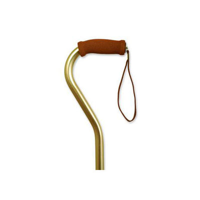 Alex Orthopedic Adjustable Offset Cane with Hypalon Handle-Bronze