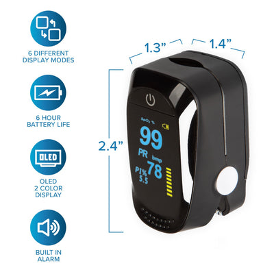 Finger Pulse Oximeter-With 2 AAA batteries