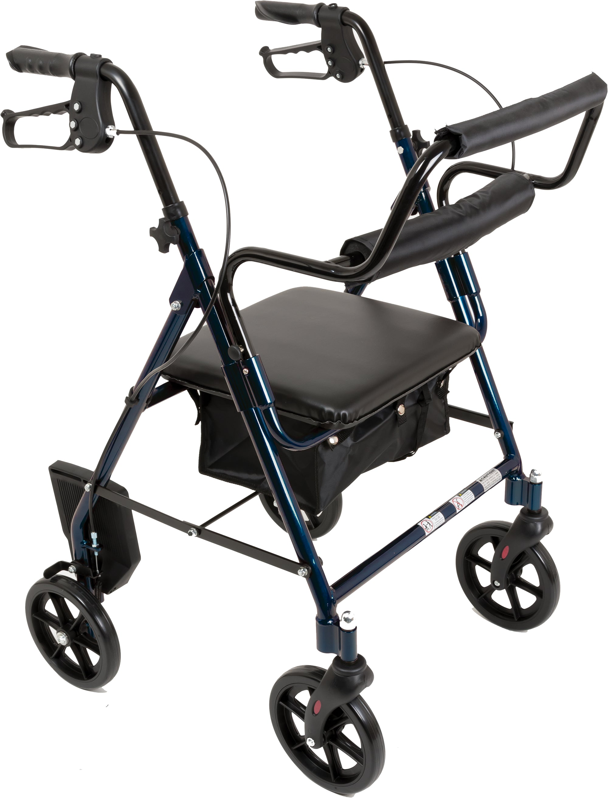 ProBasics Aluminum Transport Rollator with 8-inch Wheels