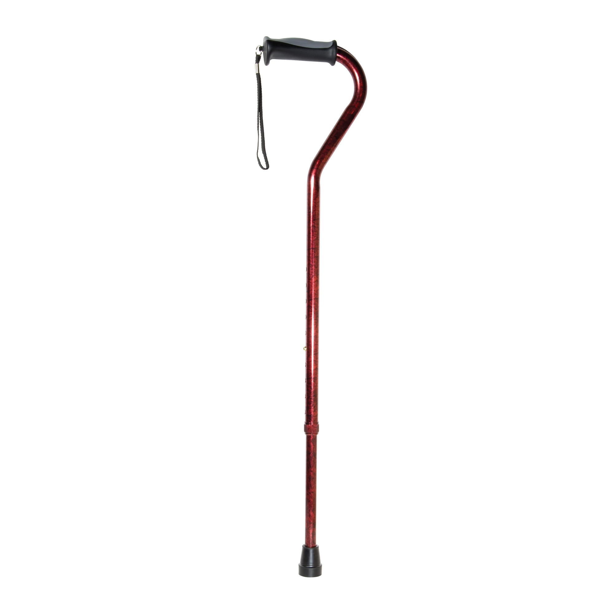 Drive Adjustable Offset Cane with Gel Grip-Blue Crackle