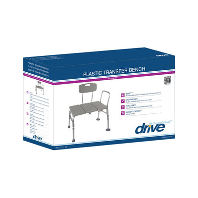 Drive Plastic Transfer Bench with Adjustable Backrest