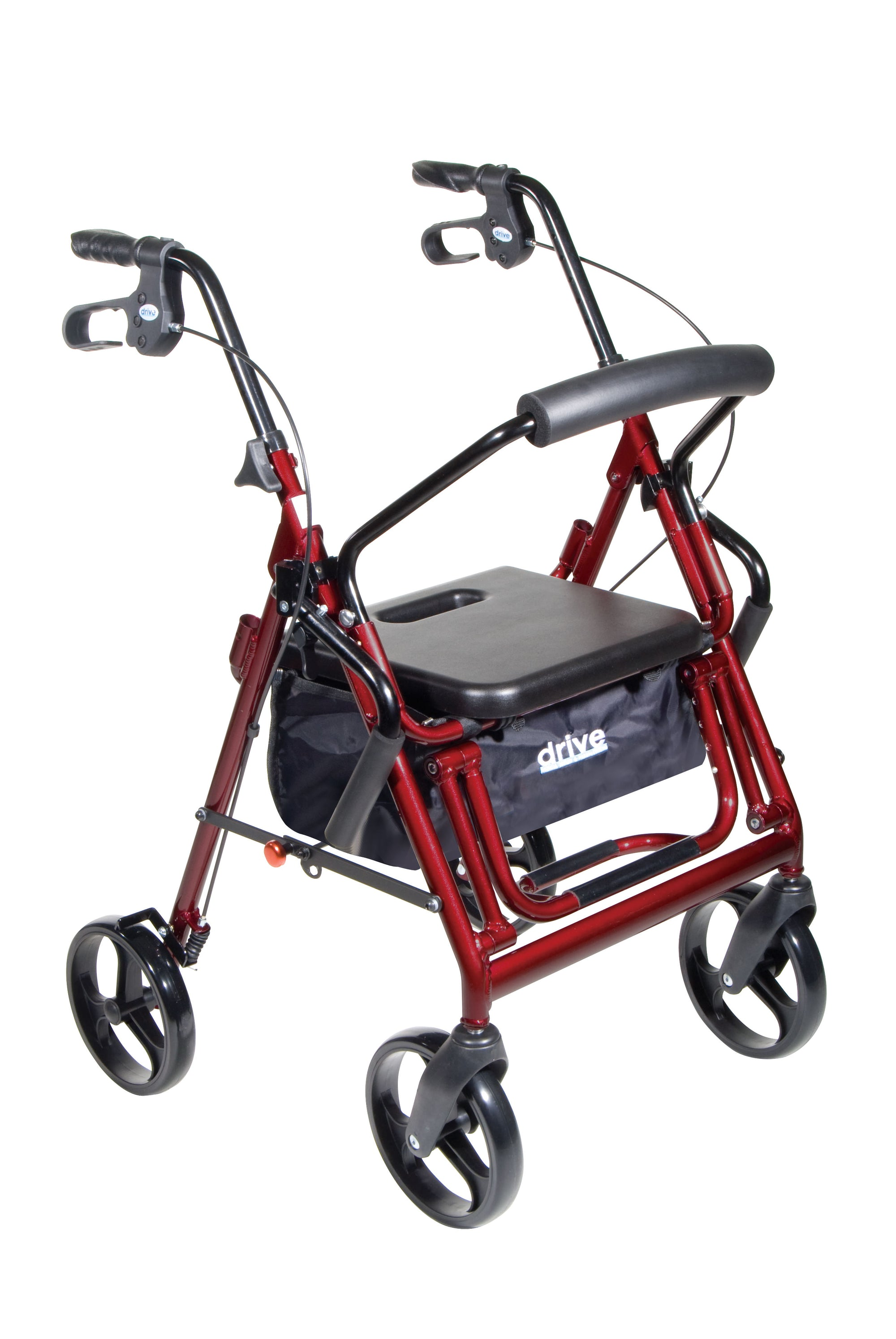 Drive Duet Rollator/Transport Chair - Burgundy