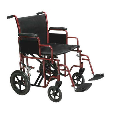 Drive Bariatric Heavy Duty Transport Wheelchair-Blue