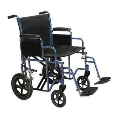Drive Bariatric Heavy Duty Transport Wheelchair-Red