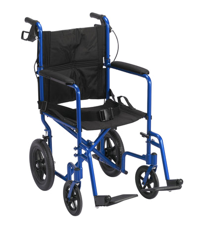 Drive Lightweight Expedition Transport Wheelchair - Blue