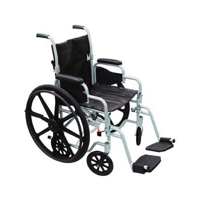 Drive Poly-Fly Transport Chair/Wheelchair-18""