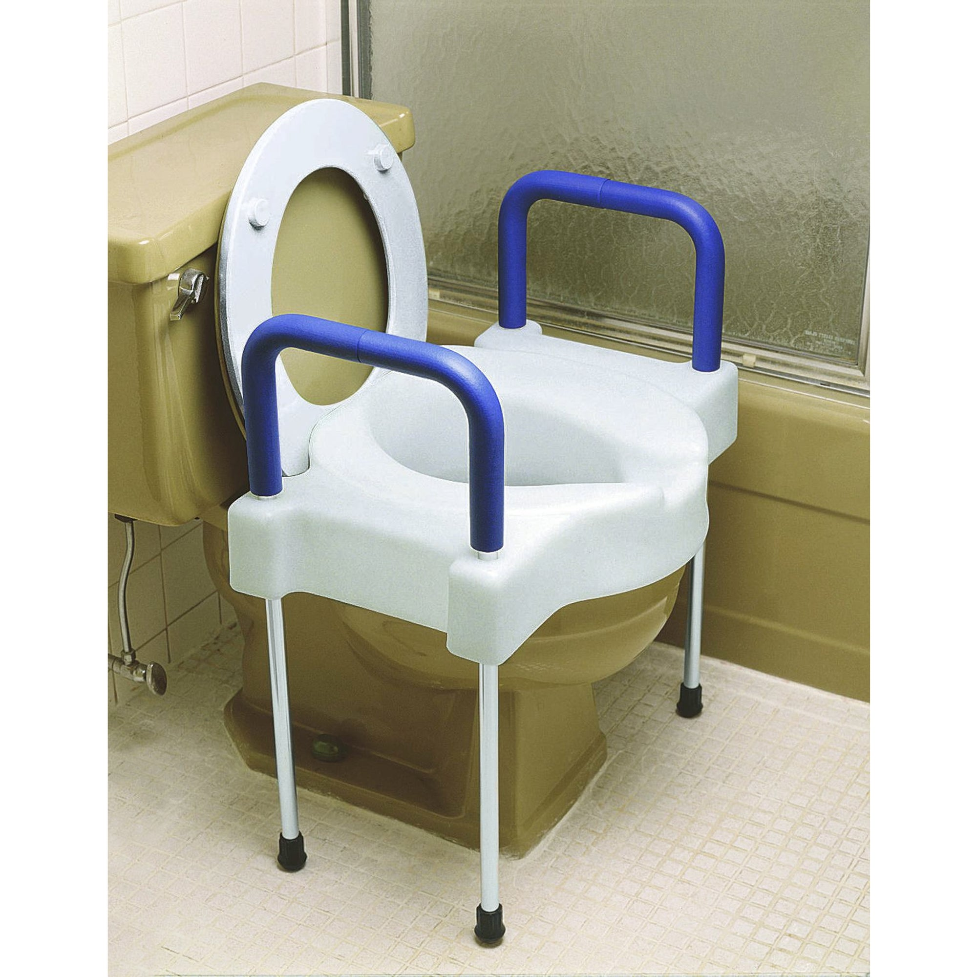 Extra Wide Tall Ette Elevated Toilet Seat (with or without Legs
