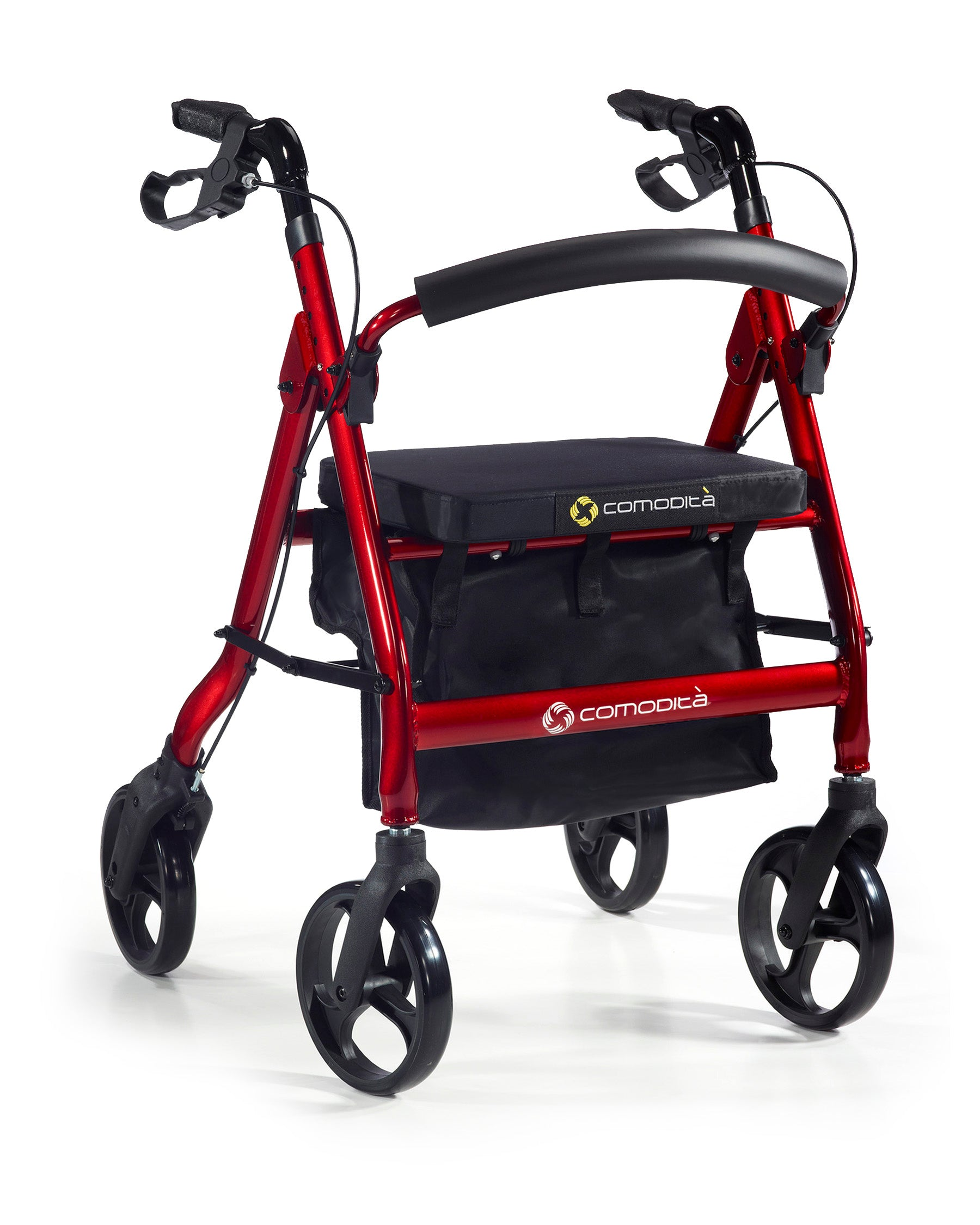 Comodita Prima Heavy Duty Rolling Walker - Red