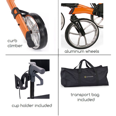Tipo Classic - Curb Climber, Wheels, Cup holder, Bag