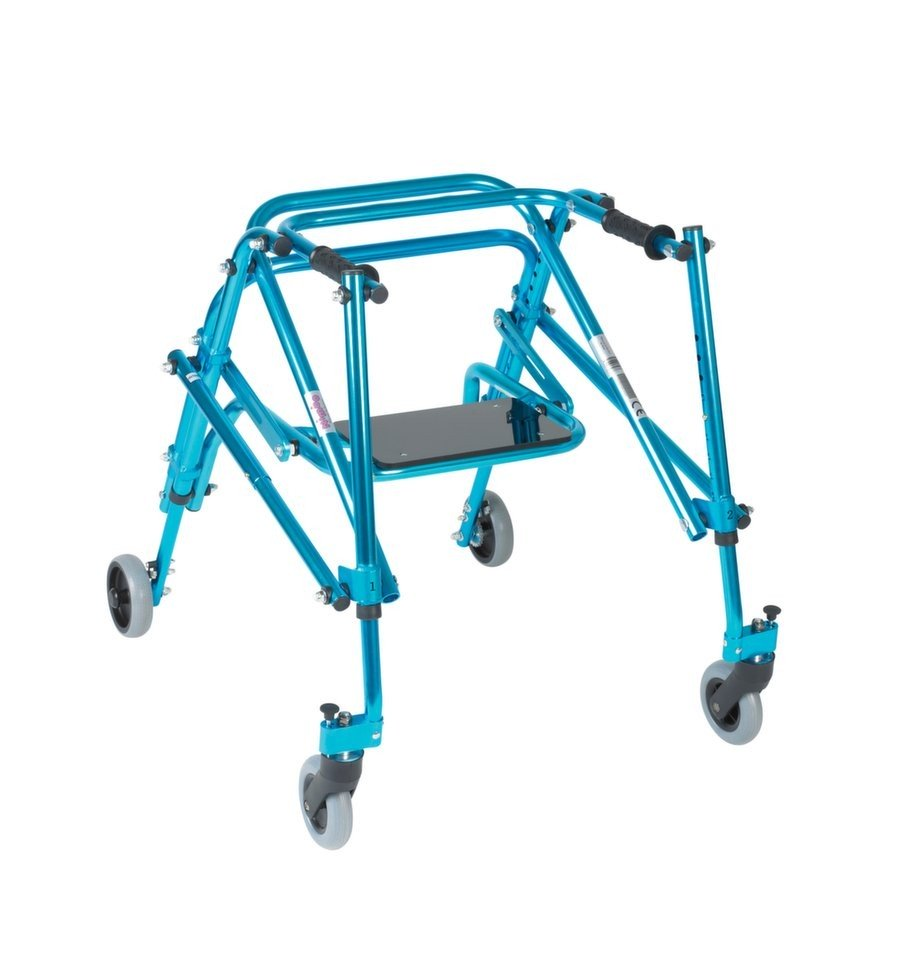 Drive Nimbo Rehab Lightweight Posterior Posture Walker with Seat - Blue, Large