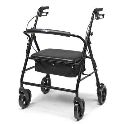 Lumex Walkabout Four-Wheel Imperial Rollator - Black