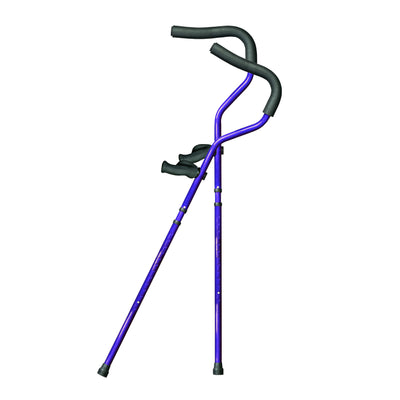 Millennial In-Motion Pro Crutches, 1 Pair - Blue