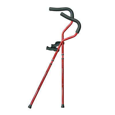 Millennial In-Motion Pro Crutches, 1 Pair - Red