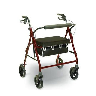 Invacare Heavy Duty Rollator with Loop Brakes (Burgundy)-Burgundy