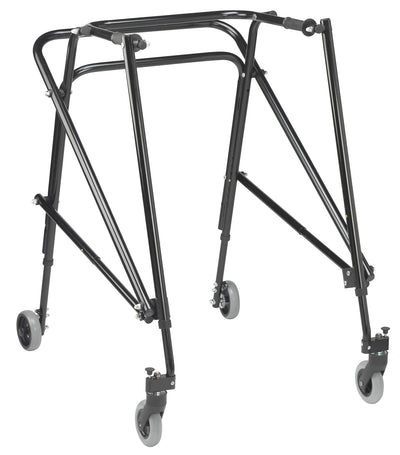 Drive Nimbo Rehab Lightweight Posterior Posture Walker with Seat - Black, Extra Large