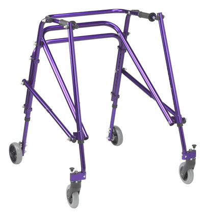 Drive Nimbo Rehab Lightweight Posterior Posture Walker with Seat - Purple, Medium