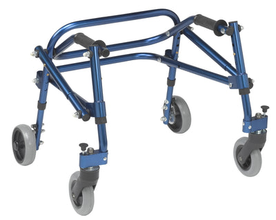 Drive Nimbo Rehab Lightweight Posterior Posture Walker with Seat - Blue, Extra small