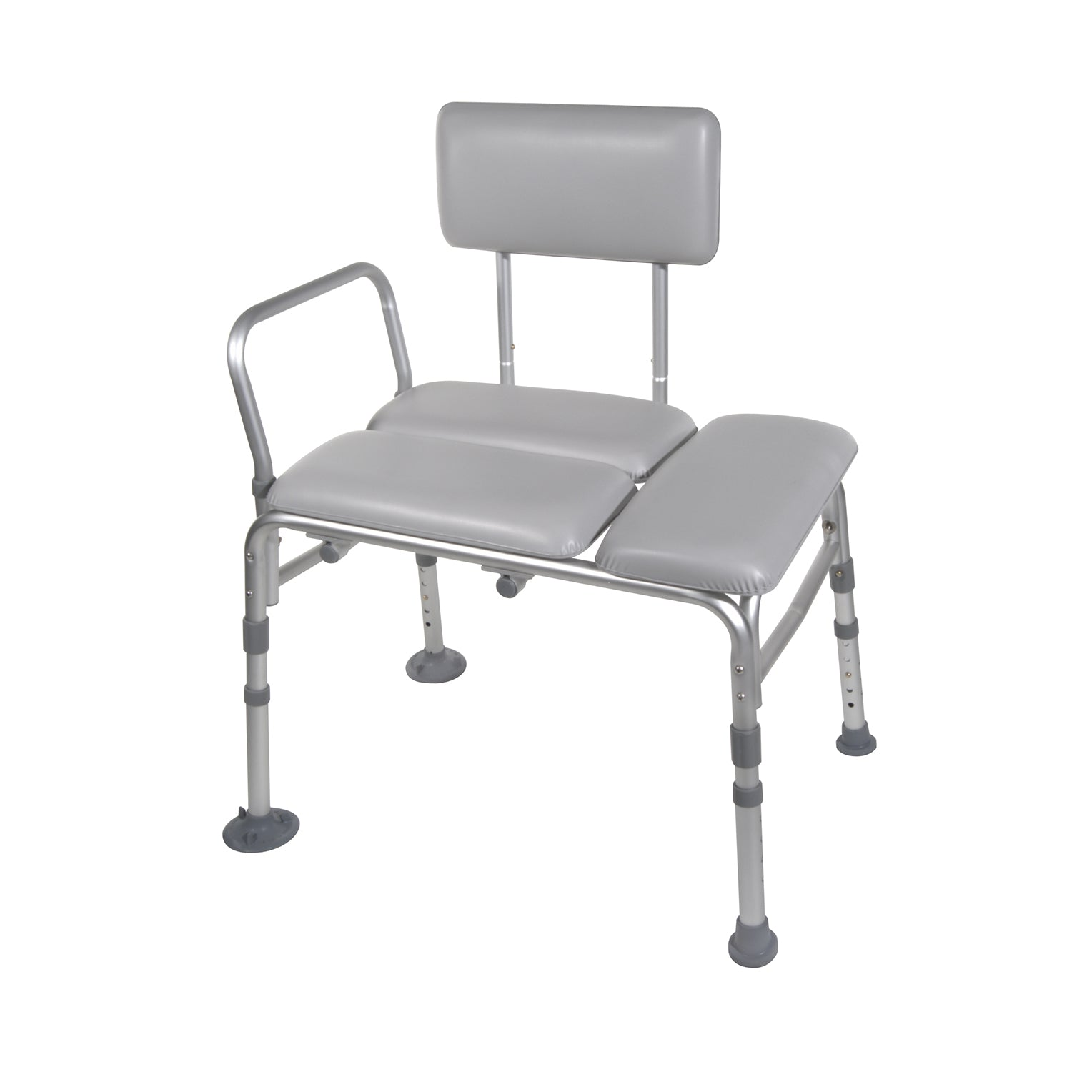 Drive Padded Seat Transfer Bench-Commode Opening