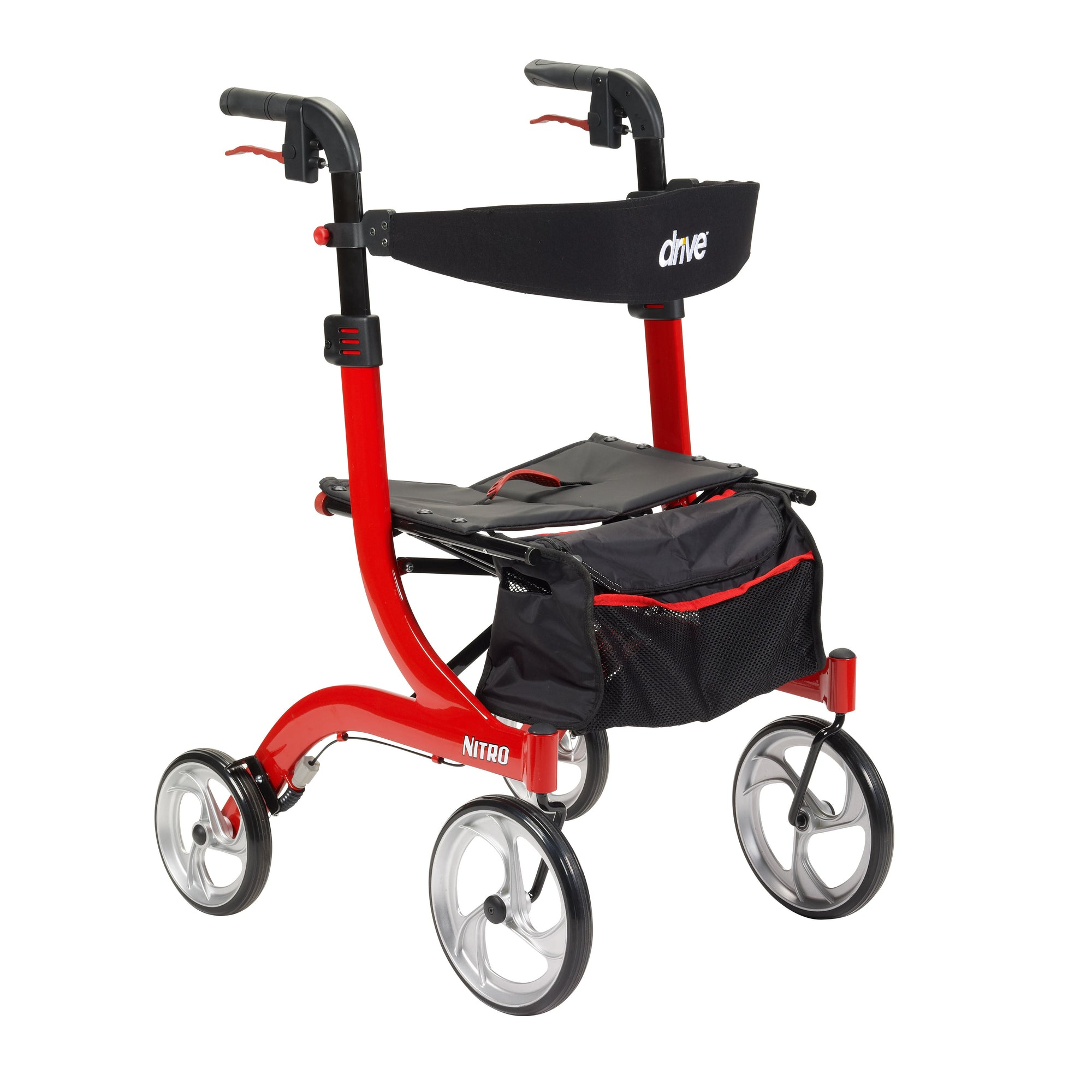 Drive Nitro 4 Wheel Rollator-Red