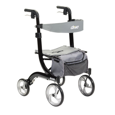 Drive Nitro 4 Wheel Rollator-Black