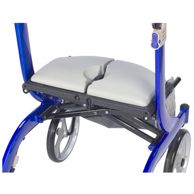 Drive Medical Nitro DLX Rollator, Firm Foam Seat
