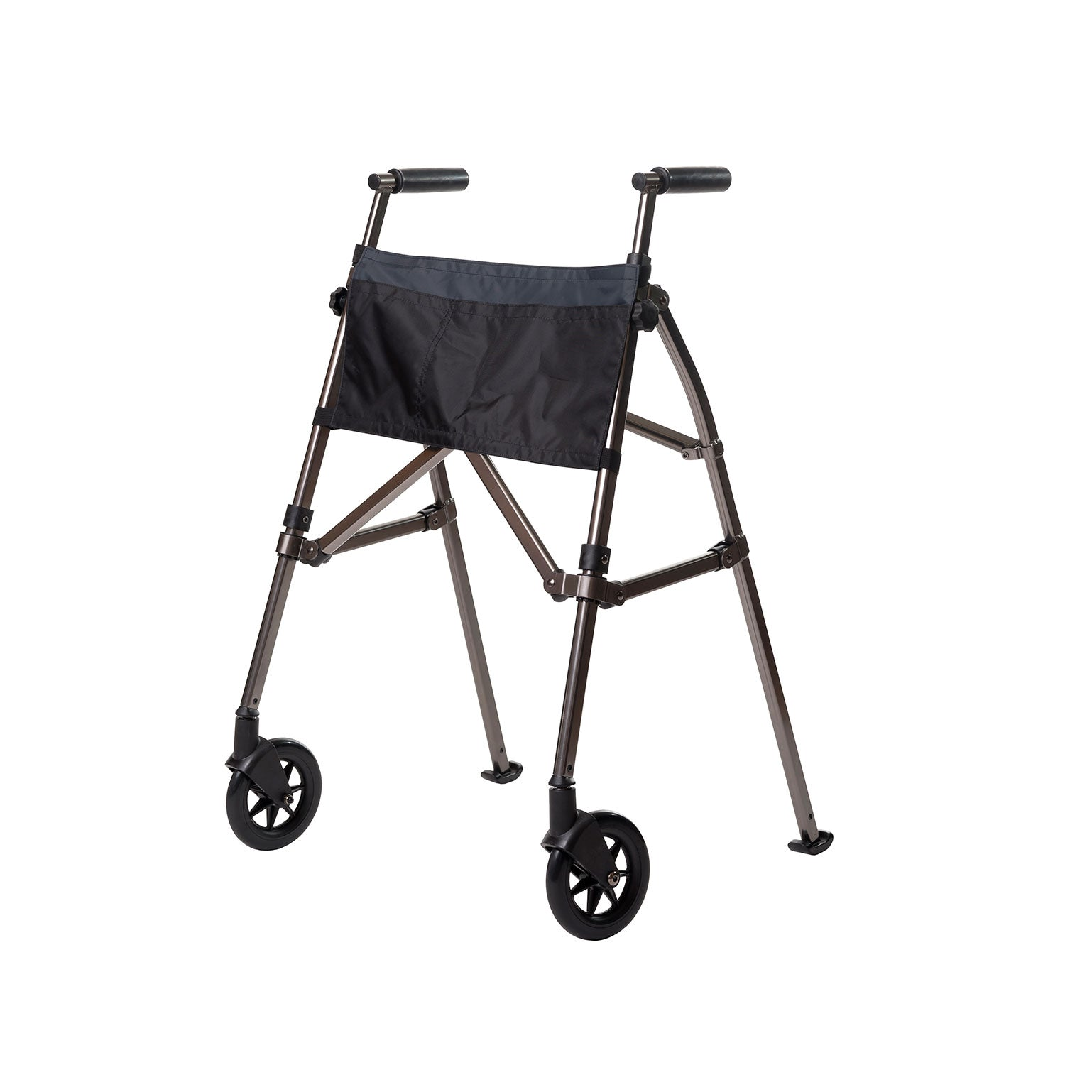 EZ Fold-N-Go Walker-Black Walnut