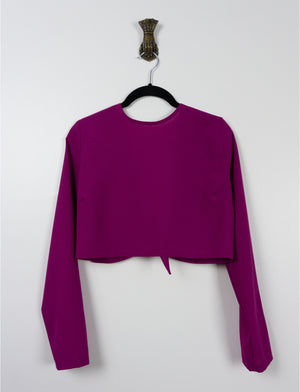Open back crop top ~ Fuchsia Pink - auslästudio