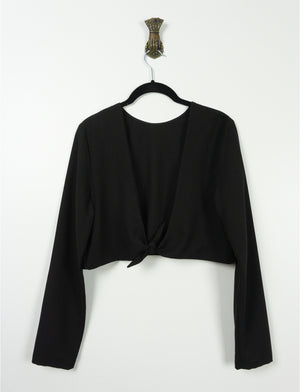 Open back crop top ~ Black Crepe - auslästudio
