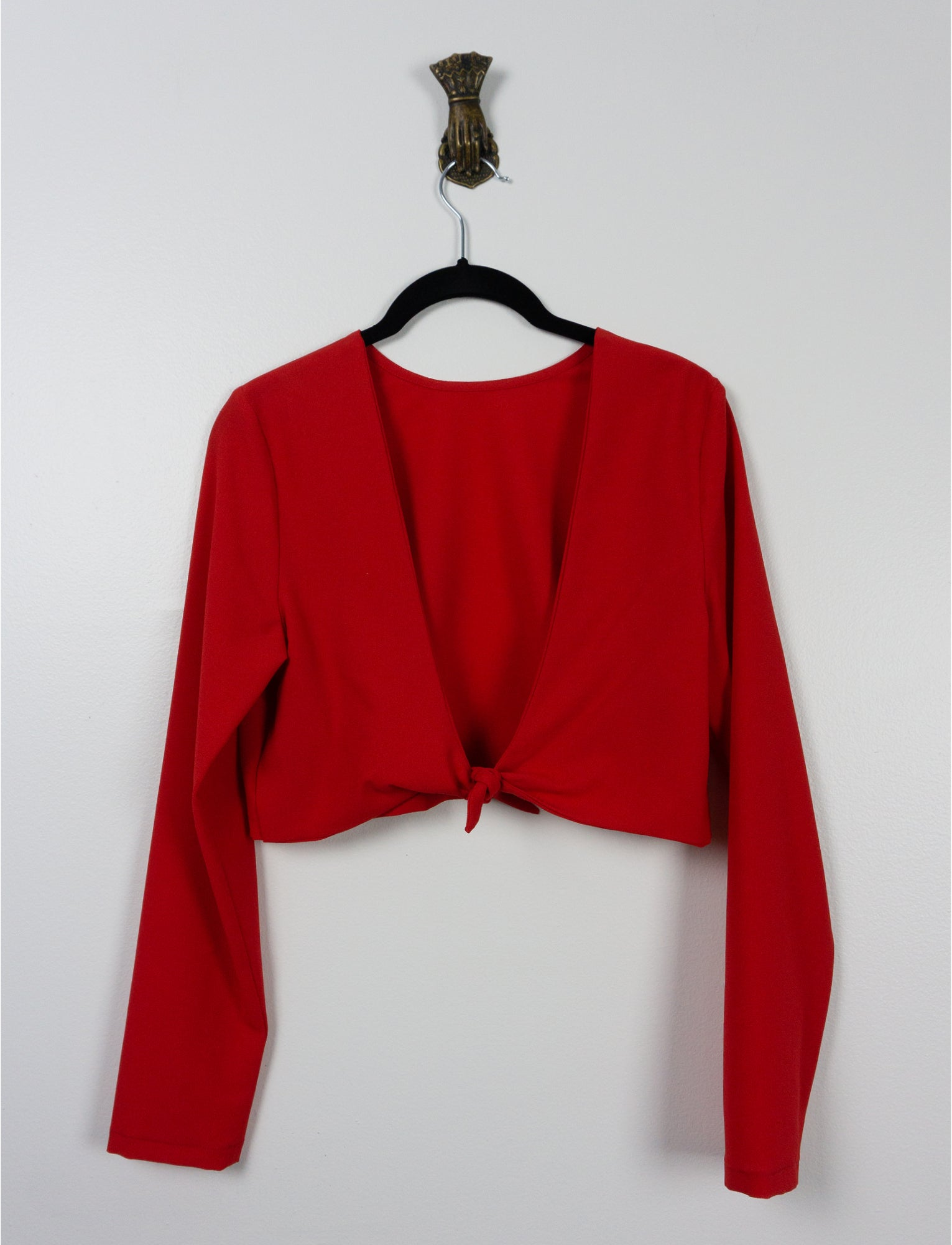 Top Hibis ⌇ Crêpe rouge vif ~ Bright red crepe - auslästudio
