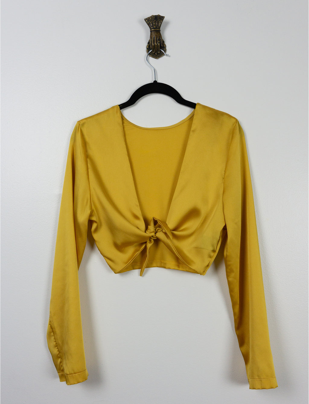 Top Hibis ⌇ Satin jaune ambre ~ Amber yellow satin - auslästudio